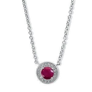 Sterling Silver 5mm Genuine Ruby with Genuine
